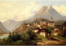 Slavné obrazy V-108 Johann Wilhelm Jankowsky - Kriens u Lucernu