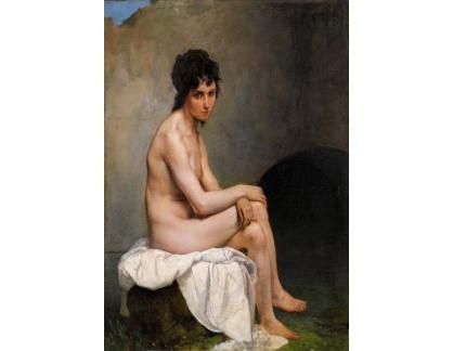 Slavné obrazy XVII-72 Francesco Hayez - Ženský akt