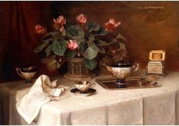 Krásné obrazy VI-89 Neznámý autor - Zátiší s květinami
