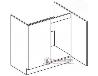 Dolní skříňka pod dřez D80ZL NORA hruška