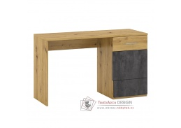 ERIDAN P2, počítačový stůl, dub artisan / šedý beton