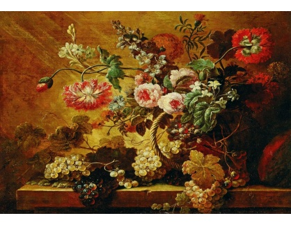DDSO-4520 Zátiší s květinami a ovocem - Zátiší s květinami a ovocem