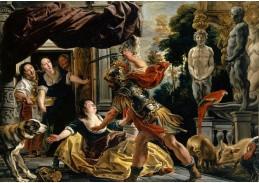 D-9466 Jacob Jordaens - Ulysses ohrožující Circe