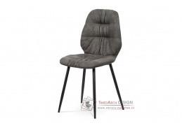 AC-1127 GREY3, jídelní židle, chrom / látka šedá