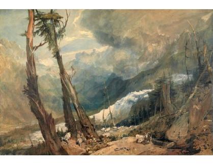 Joseph Mallord William Turner - Mer de Glace v údolí Chamouni