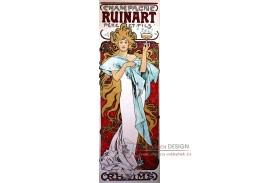 VAM112 Alfons Mucha - Champagne Ruinart