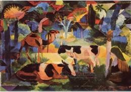 VAM11 August Macke - Krajina s krávami a velbloudy