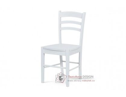 AUC-004 WT, jídelní celodřevěná židle, bílá