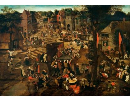 Slavné obrazy XIV-31 Pieter Brueghel - Posvícení