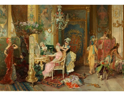 Slavné obrazy XVI-382 Carl Schweninger - Před slavností