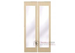 GRETA, posuvné dveře se zrcadlem ke skříni, dub belfort - 2ks