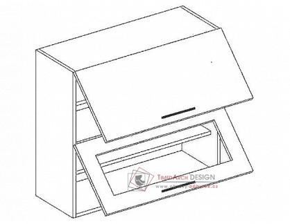 PREMIUM de LUX, horní skříňka výklopná W60SP, olše