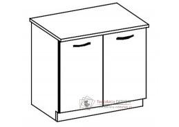 CHAMONIX II, dolní skříňka 2-dvéřová D80, dub ferrara / dub tmavé legno
