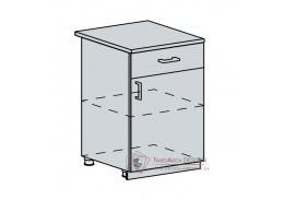 VALERIA, dolní skříňka 1-dveřová se zásuvkou 60D1D1S, bílá / white stripe