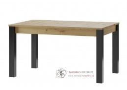 LUCAS 40, jídelní stůl rozkládací 140-210x90cm, dub artisan / černá