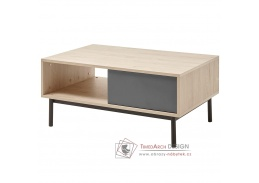 BERGEN BL104, konferenční stolek, dub jaskson hickory / grafit