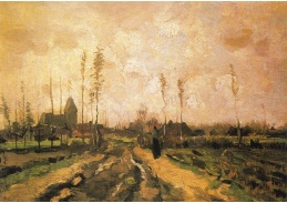 D-7685 Vincent van Gogh - Krajina s kostelem a domy