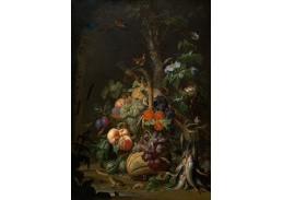 D-7720 Abraham Mignon - Zátiší s ovocem, rybami a ptačím hnízdem