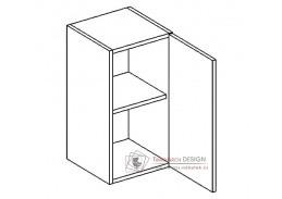 MORENO, horní skříňka 1-dvéřová W30/58, bílá / dub picard