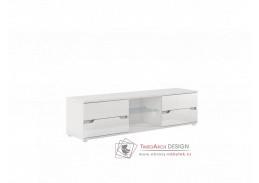Televizní stolek ADONIS AS 30 bílá vysoký lesk