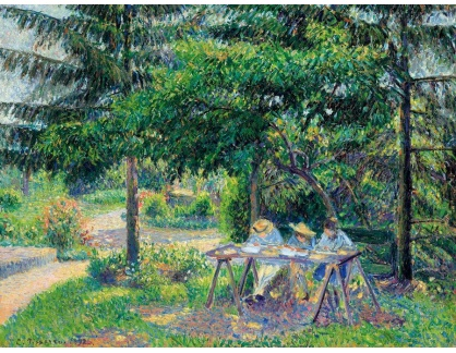 VCP-334 Camille Pissarro - Děti v zahradě u Eragny