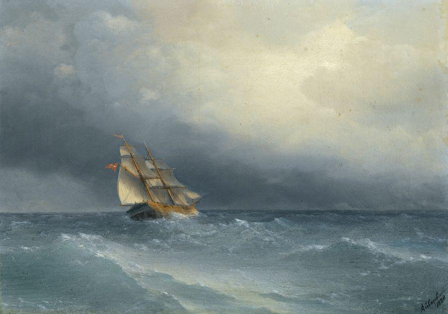 VR-347 Ivan Konstantinovič Aivazovski - Zvedající se bouře