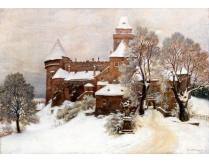 Slavné obrazy IX DDSO-662 Hans Götzinger - Pohled na Heidenreichstein v zimní den