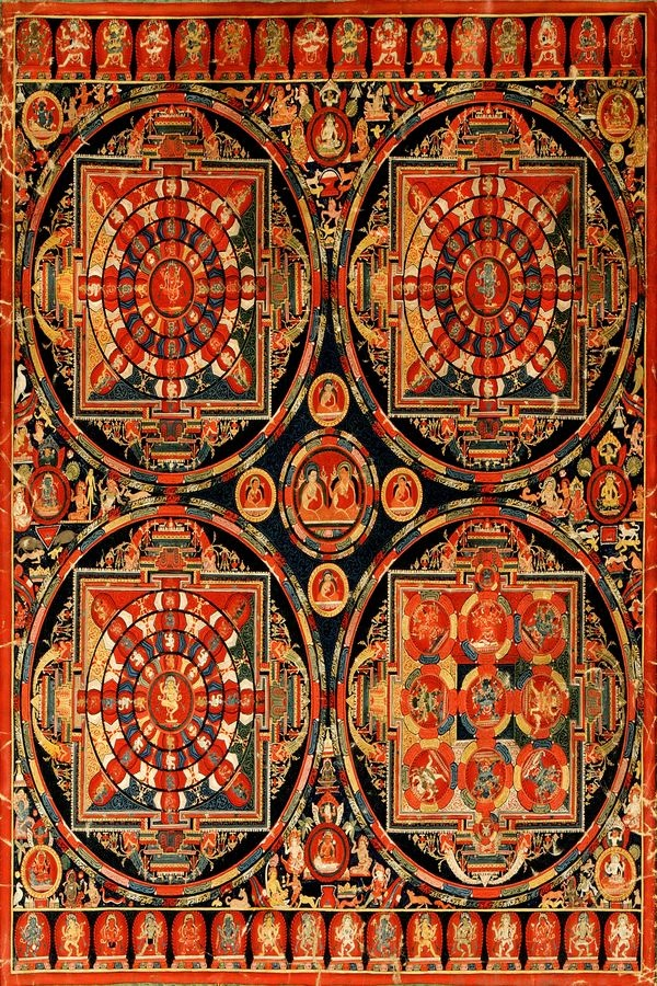VSO 295 Neznámý autor - Mandala Vajravali Thangka