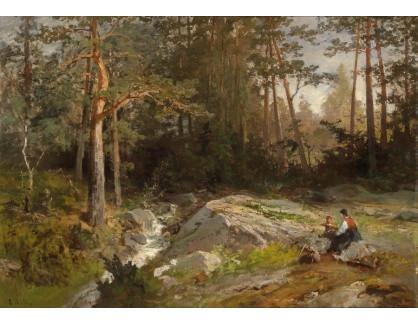 Slavné obrazy XVI-290 Axel Nordgren - Odpočinek u lesa