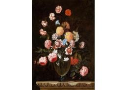 Krásné obrazy V-10 Nicolas Baudesson - Zátiší s kyticí v křišťálové váze