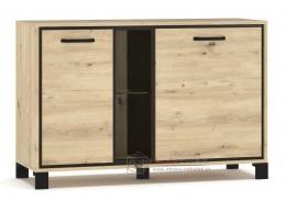 BUCKET, komoda 2-dveřová 2D, dub artisan / wenge