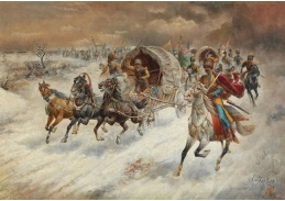 D-6578 Adolf Bgartaumner-Stoiloff - Kozácká jízda v zimní krajině