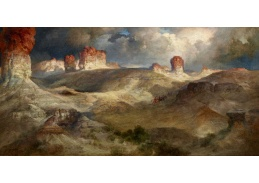 D-8407 Thomas Moran - Pine Buttes ve Wyomingu