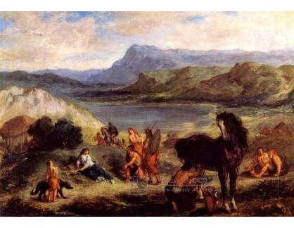 VEF 28 Eugene Ferdinand Victor Delacroix - Ovid mezi Scythiany