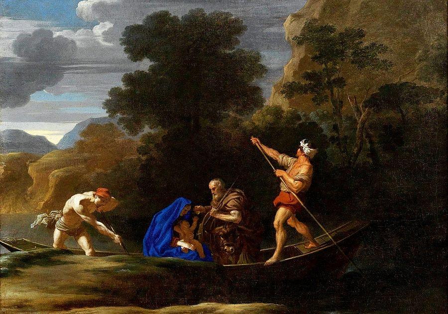 Slavné obrazy II-DDSO-310 Nicolaes van Helt - Útěk do Egypta