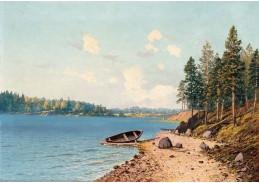 Krásné obrazy I-106 Eugene Taube - Plážová krajina