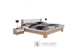 MARTINA, postel s nočními stolky 180x200cm, dub sonoma / bílá
