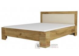 DENVER, postel 160x200cm, dub kraft zlatý / vanilka
