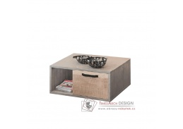 BARI, konferenční stolek 1S 80x80cm, šedá / dub pískový