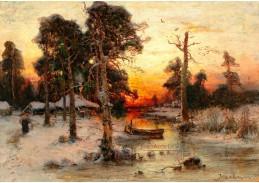 D-9531 Julius Sergius Klever - Návrat domů při západu slunce