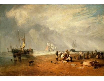 Joseph Mallord William Turner - Rybí trh na pláži v Hastings