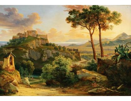 Slavné obrazy III-DDSO-614 Franz Kutschera - Pevnost Massa poblíže Carrara