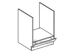 MORENO, dolní skříňka na vestavnou troubu DK60, bílá / dub sonoma