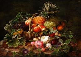 A-1345 Johan Laurentz Jensen - Zátiší s ananasem, hrozny a angreštem v košíku