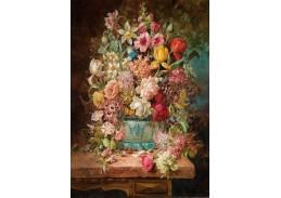 DDSO-4398 Charles Henry Slater - Zátiší s květinami na mramorovém stole