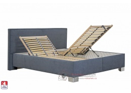 OLIVER, postel 160x200cm BEZ matrací, látky LABER 2 / ENJOY 22 ANTHRACIT
