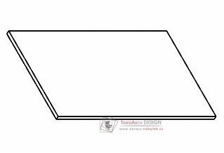 Kuchyňská pracovní deska 90 cm šedý asfalt