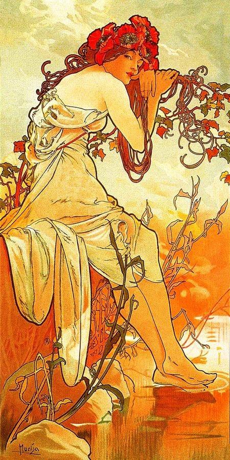 Obraz VAM-106 Alfons Mucha - Summer