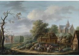 Slavné obrazy VIII-120 Frans Wouters - Krajina s jezdci na koních