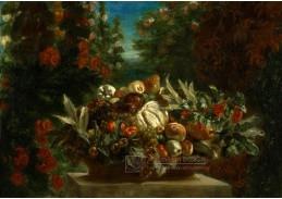 KO I-133 Ferdinand-Victor-Eugene Delacroix - Zátiší s květinami a ovocem
